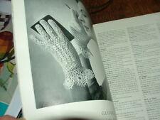 Vintage Irish crochet patterns Mercer Crochet 12 designs gloves edgings 1950s