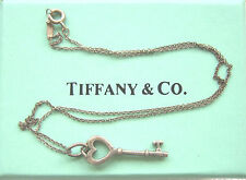 Stunning TIFFANY & Company 925 Silver Designer Key Pendant Necklaces New York