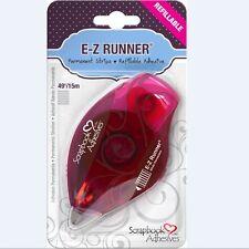 Scrapbook Adhesives ~ E-Z RUNNER DISPENSER ~ PERMANENT STRIPS  ~ 49ft. ~ 01200