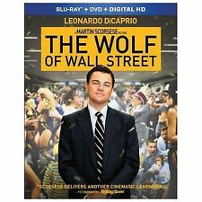 The Wolf of Wall Street (Blu-ray/DVD, 2014) SHIPS NEXT DAY Leonardo DiCaprio