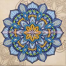 Mandala fridge magnet DIY bead embroidery stitching kit freezer decor gift idea