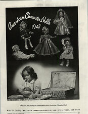 1947 PAPER AD American Character Dolls Rapaport Bros Quiz Kids Electric Quizzer