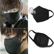 2Pcs Unisex Black Health Cycling Anti-Dust Cotton Mouth Face Respirator Mask