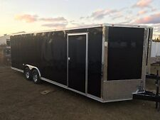 NEW 2017 8.5X20 V-NOSE ENCLOSED CARGO RACE READY TRAILER CAR TOY HAULER 8.5X20