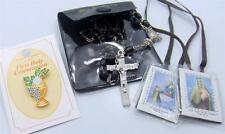 MRT Black First Holy Communion Kit Rosary Set Catholic Boys Gift 3""