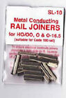 24 pack Peco SL-10 code 100 metal rail joiners for track HO OO scale UK