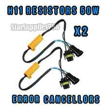2x H8/H11 RESISTORS FOG LIGHT WARNING CANCELLERS H11 50W AUDI GOLF MERCEDES BMW