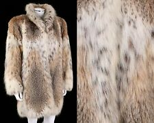 GENUINE CANADIAN LYNX FUR MID LENGTH COAT JACKET Size M
