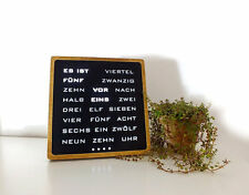 Word clock - German Wordclock, Deutsch Uhr, led clock, wood electronic clock, hö