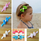 Baby Girl Kid Pearl Headband Rose Bow Lace Flower Newborn Baby Hairband Hot