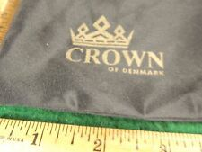 COLLECTORS CROWN OF DENMARK DRAWSTRING PIPE BAG VERY NICE COLLECTORS ITEM