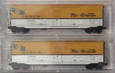 Micro-Trains N Scale D&RGW 50' Plug Door Box Cars 2 Pk 032 00 221 & 222