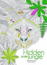 Hidden Jungle Coloring Poster Book by De Agostini De Agostini Libri S.p.A....