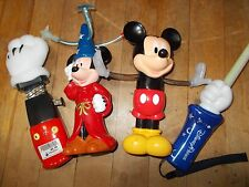 DISNEY PARKS Mixed Lot of 2 Mickey Light Up Spinners, 1 Wand & Mickey Puncher