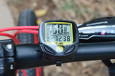 Etanche Sans Fil LCD Digital Compteur Vitesse de Odomètre Ordinateur Vélo Jaune