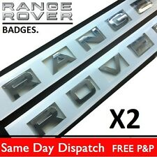 Range Rover chrome Lettering badge letters Boot Bonnet Hood Vogue P38 L322 sport