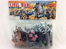"75 Piece 2"" Civil War Army Guys Men Military Soldier Toy Playset & Accessories"