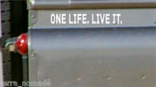 Small One Life Live It Stickers x 2 , Land Rover, 4x4, OFF-Road, Sticker, Decal