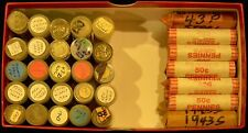 Roll of 50 1943-D Lincoln Steel Cents/Penny, Circulated Condition, Some Rust
