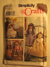 New Vtg Simplicity Crafts Pattern 9620 Doll & Clothes by Elaine Heigl