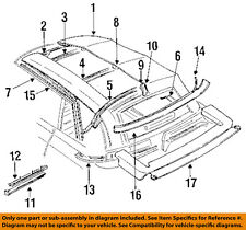 Dodge CHRYSLER OEM Shadow Convertible/soft Top-Weatherstrip Seal Right 5242262