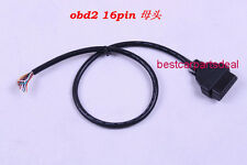 OBD2 OBD-II 16 Pin Female Extension Connector To Open Plug Wire Diagnostic Cable