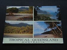 TROPICAL QUEENSLAND AUSTRALIA MANGROVE FORESTS WHITE SANY BEACHES 1990 POSTCARD