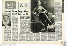 Coupure de presse Clipping 1975 (2 pages) Empereur Gengis Khan