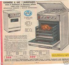 Publicité 1964 - Cuisinière à gaz - Manufrance