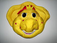 "Barney and Friends Dinosaur Plush Stuffed BJ Pillow Pal Head Wall Hang 16"" 1994"