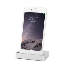 Dock Dockingstation iPhone 6 6S Plus 5 5C 5S SE Lade Gerät Daten Sync Silber