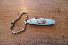 Old Gehl key chain, pocket knife advertising, agriculture equipment, promotional