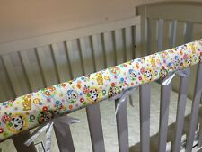 2 x  Reversible Baby Cot Crib Teething Rail Cover Protector ~ cute animals