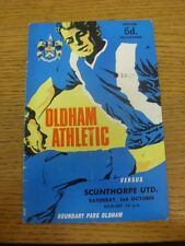 02/10/1965 Oldham Athletic v Scunthorpe United  (folded, team changes). Thanks f