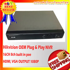 (OEM) Hikvision DS-7616NI-E2/8P PLUG & PLAY NVR 16CH WITH 8 BUILT-IN POE PORT
