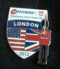 2012 LONDON OLYMPIC USA NOC OLYMPIC TEAM SPONSOR FITNESS GUARD PIN