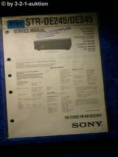 Sony Service Manual STR DE245 /DE345 FM/AM Receiver (#5191)