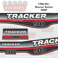 1996-98 Tracker By Mercury 90 HP Decals Outboard  Reproduction 2 Pc Marine Vinyl