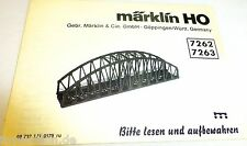 Märklin Instruction 7262 7263 Guide 68 732 LN 0179 ru å