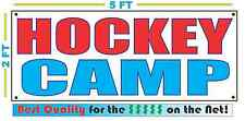 HOCKEY CAMP Banner Sign NEW Larger Size Best Quality for the $$$ Ice Field