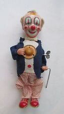 Smiling Sam The Carnival Man tinplate clockwork wind up tin toy Alps Japan-RARE!