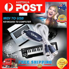 MIDI to USB Keyboard Interface Converter Cable Adapter Windows7 8 XP Vista MAC