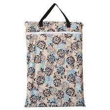 1 Large Hanging Wet/Dry Pail Bag Cloth Diaper,Insert,Nappy,Laundry,Zip Foliage