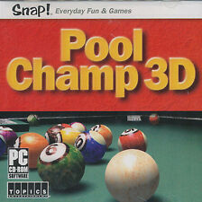 POOL CHAMP 3D Snap! Billiards PC Game NEW VISTA OK!