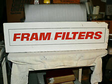 "Vintage Fram Filters Advertising Metal Sign 36 x 10"" Oil Gas"