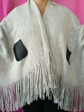 New With Tags Grey Cream Cape From River Island Scarf Warm