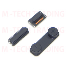 NEW GENUINE IPHONE 5 BLACK SIDE POWER VOLUME MUTE BUTTON WITH CONTACTS SET PART