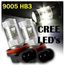 9005 HB3 X2 Super Bright White CREE LED Fog Light Bulbs 6000K Foglight Spotlight