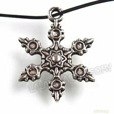 70pcs Christmas Snowflake Charms Antique Silvery Pendants Findings Fit Craft