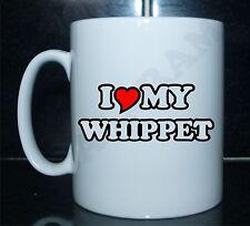 I LOVE/CUORE MY WHIPPET Con Stampa Mug Regalo CUCCIOLO DI CANE